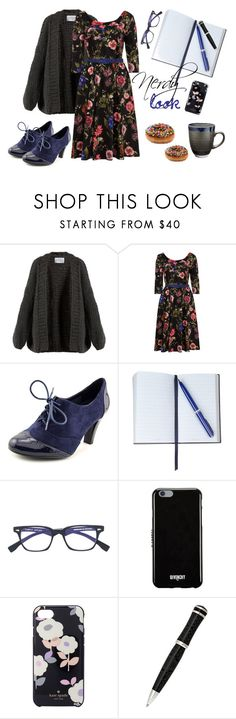 """""""nerdy floral royal blue"""" by moumantai13 ❤ liked on Polyvore featuring I Love Mr. Mittens, Giani Bernini, Smythson, Family Affair, Givenchy, Kate Spade and Montegrappa"""