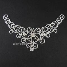 1 PC Clear Glass Rhinestone Crystal Luxury Trim Craft Bridal Sewing Applique | eBay