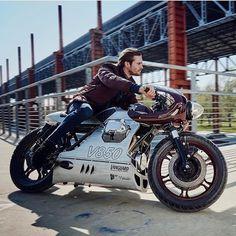 Scrambler y Cafe Racer Puebla! Cafe Racer Style, Cafe Racer Bikes, Cafe Racer Motorcycle, Motorcycle Design, Bike Design, Moto Guzzi, Custom Street Bikes, Custom Bikes, Custom Bmw
