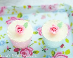 Pretty White Chocolate Cupcakes with Rose Buttercream (Lulu's Sweet Secrets).