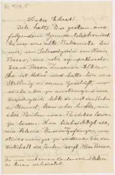 Albert Einstein (1879-1955) an Jakob Ehrat (1876-1960). Hs 1509:5