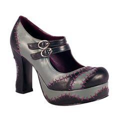 Monster Stitch Platform Mary Jane Shoes.