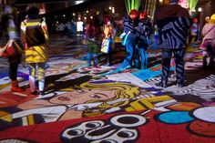 Projected images on floor (Let There Be Light: Berlins Festival of Lights)