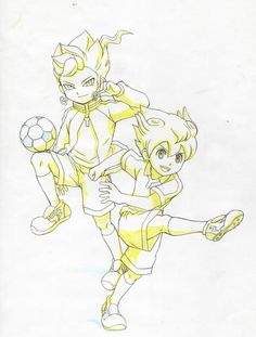 Inazuma eleven go - Tsurugi and Tenma