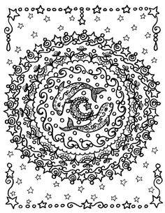 Dolphin Mandala Instant Download You be the by ChubbyMermaid, $1.99