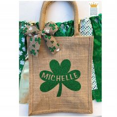 First St. Patricks Day, St. Pattys Day outfit, St. Patricks Day tote, St. Patricks Day Decor, St. Pattys Day gift Personalized Banners, Custom Banners, Personalized Gifts, Fabric Garland, Garlands, Engagement Banner, Shower Banners, Gamer Gifts, Jute Bags