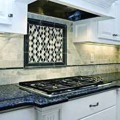 I just love what people do with vinyl tile. It goes great with RV's because its lighter and more flexible than regular tile and a whole lot easier to install. Vinyl Tile Backsplash Design, Pictures, Remodel, Decor and Ideas Black Granite Countertops, Granite Kitchen, Kitchen Countertops, Kitchen Backsplash, Dark Granite, Kitchen Redo, Kitchen Remodel, Kitchen Ideas, Kitchen White