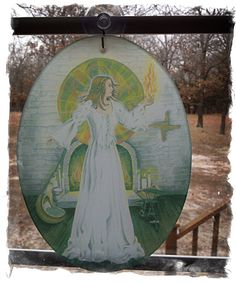 Goddess Bridget Glass Suncatcher This gorgeous sun catcher will brighten your day with the blessing of Bridget as the sun shines through!