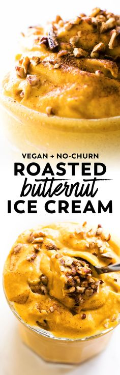 Cold creamy and...cozy? Yes it's possible and it's called no-churn Roasted Butternut Squash Ice Cream! #vegan #paleo #healthy