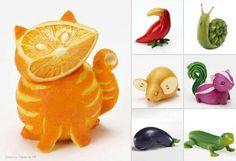 Cool fruit and veggi animals
