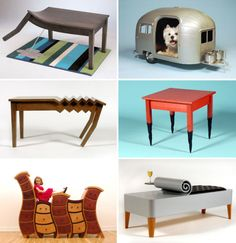 Straight Line Designs is an imaginative furniture design company that produces quirky and whimsical items like the Bad Table, the Burnt Leg Table, the Canned Bench or like the amazing Pet Camper, which is a small, highly-detailed replica of a regular trailer for your dog. Owned and operated by designer Judson Beaumont who has been greatly influenced by children and their acceptance of the bizarre, the company makes custom furniture aimed at children, movie and TV prop services, retail, and…