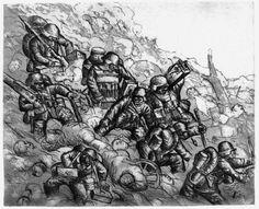"Otto Dix ""Machine Gunners Advancing"" from Der Krieg (1924)"