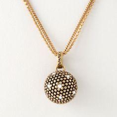 Diamond Ball set: collier, vederlichte armband en bijpassende oorstekers. Nu zijn de prachtige ontwerpen uit deze serie ook verkrijgbaar in de trendkleur brons.