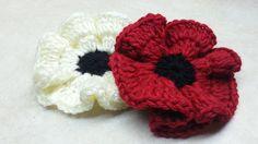 How to #Crochet Easy Poppy Flower #TUTORIAL DIY Crochet Flower on top again