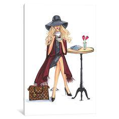 iCanvas Lady Latte