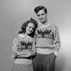 the best Christmas jumpers i have ever seen! his & hers <3