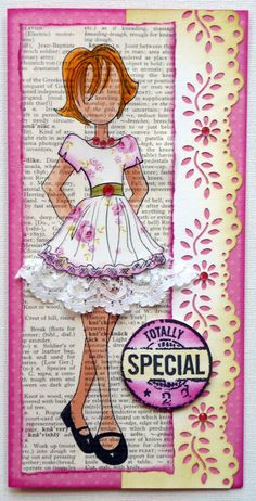 Prima Doll stamp - DL size card
