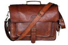 Men's Leather Bag Business Messenger Laptop by TemptationArt