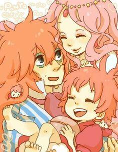 Ponyo, Studio Ghibli - I love this fan art! Hayao Miyazaki, Film Animation Japonais, Animation Film, Studio Ghibli Art, Studio Ghibli Movies, Anime Sweet, Anime Beautiful, Secret World Of Arrietty, The Cat Returns