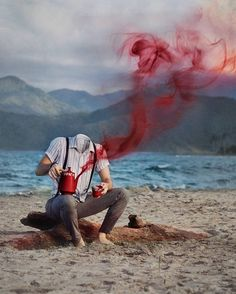 Daniel Serva Expresses Himself Thro ugh Surreal Self Portraits Blur Background Photography, Blue Background Images, Studio Background Images, Background Images For Editing, Photo Background Images, Background Images Wallpapers, Photo Backgrounds, Photography Backgrounds, Surrealism Photography