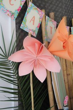 Tropical Hawaiian Birthday Party Decoration Pinwheels!