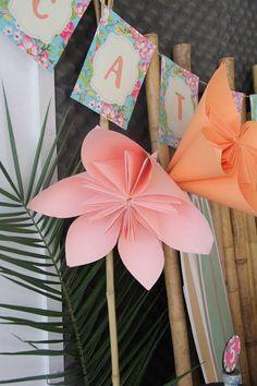 Tropical Hawaiian Birthday Party Decoration Pinwheels!