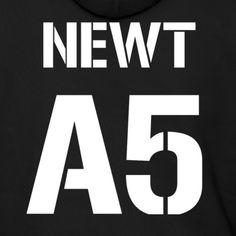 A5 Newt (Maze Motif Front) Hoodie - Men's Hoodie