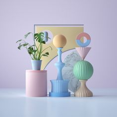 Shapes in various colors Shape Design, 3d Design, Instalation Art, Pastel Room, Photography Backdrops, Baby Decor, Motion Design, School Design, Wall Collage