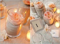 Simple and elegant centerpieces