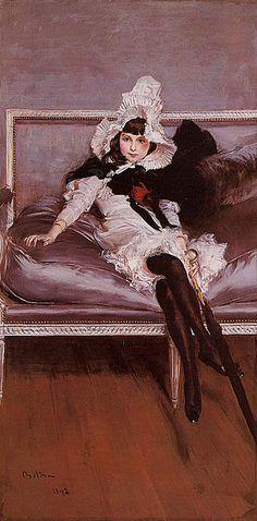 Portrait of Giovinetta Errazuriz: 1892 - Giovanni Boldini