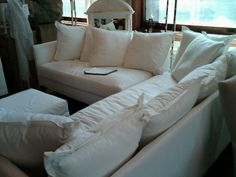 white sectional couch ABC home