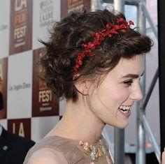 flower crown for short hair