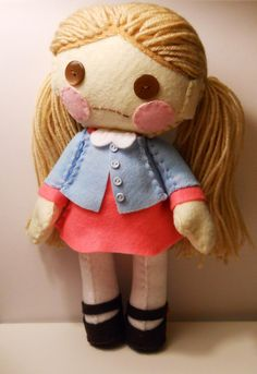 Felt little girl customizable plush stuffed rag by SouthernGothica