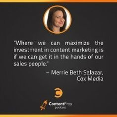 How to Enable Salespeople With Content Marketing with Merrie Beth of Cox Media