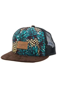 dcaf11a787d The Pineapples Trucker Hat in Black Snapback Hats