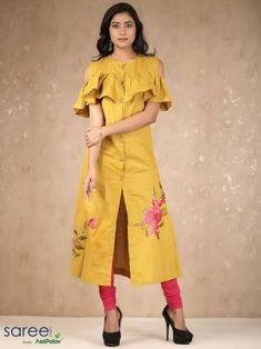 Mustard Cotton Kurti-By Asopalav