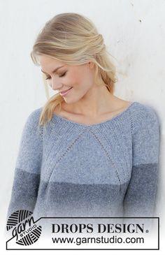 Ravelry: Sweet Nothing Jumper pattern by DROPS design Drops Design, Jumper Patterns, Drops Patterns, Free Knitting Patterns For Women, Crochet Patterns, Knitting Tutorials, Ravelry, Lace Knitting, Knit Crochet