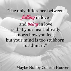 Maybe Not by Colleen Hoover Photo Credit: Jenn Benando