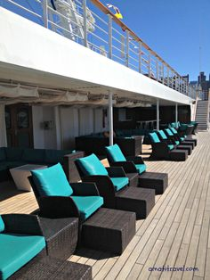 #Carnival Glory deck chairs.  #travel #cruising http://amatitravel.com