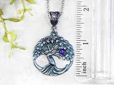 Tree Of Life Pendant Wiccan Jewelry / Pagan Jewelry World Tree image 2 Tree Of Life Necklace, Tree Of Life Pendant, Wiccan Altar, Crystal Tree, Wiccan Jewelry, Tree Images, Blue And Silver, Free Gifts, Gift Guide