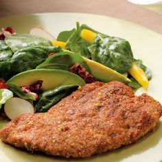 Low Calorie Dinner Recipes. Spicy Pecan Crusted Chicken