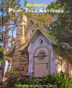 Hansel Cottage - Carmel-By-The-Sea: In Hugh Comstock build the Hansel cottage for his wife, Mayotta, as a studio for her doll-making hobby as it began to grow into a business. Photo © copyright by Mike Barton. Cozy Cottage, Cottage Living, Cottage Homes, Cottage Style, Cottage Door, Garden Cottage, Little Cottages, Cabins And Cottages, Little Houses