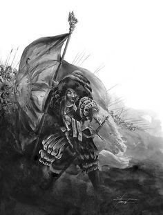 Averland soldier. Warhammer fantasy artwork.