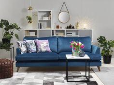 Klassiskt modern blå soffa. Spencer, em home