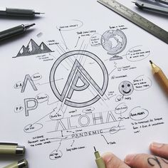 Logo Desing, Branding Design, Logo Branding, Dia Do Designer, Logo Sketches, Typographic Logo, Design Graphique, Logo Concept, Monogram Logo