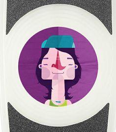 Stereo Vinyl Cruiser Sticker on Behance
