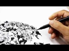 Korean artist Kim Jung Gi, known for drawings without references, demonstrates his skill