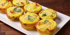 Cauliflower, egg, and ham breakfast muffins. cauliflower, ham, spinach, Eggs, garlic powder, Cheddar salt & pepper