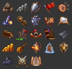 Game icons by Rav3nway.deviantart.com on @deviantART