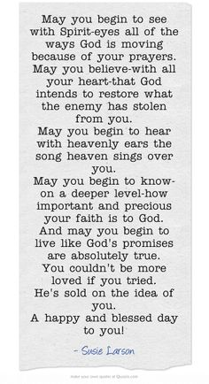 May you begin to see with Spirit-eyes all of the ways God is...
